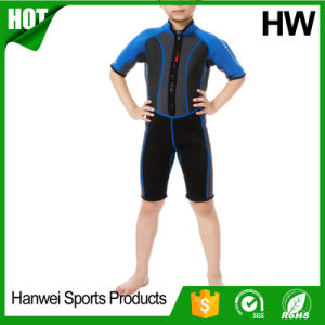 Permium Neoprene Short-Sleeved Kids Wetsuits (HW-W003) pictures & photos