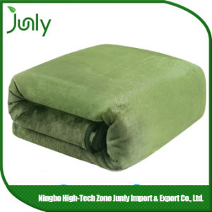 Latest Popular Lightweight Inexpensive Microfiber Blanket Green Blanket