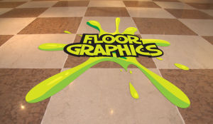 Custom Design Die Cut Vinyl Floor Sticker, Vinyl Floor Graphic
