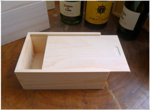 Customized Pine Wooden Boxes With Sliding Lid