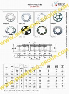 Motorcycle Parts -Motorcycle Sprocket,Chain (SFMSP-)