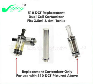 DCT Clearomizer Fit 510 Thread, Hot Selling and Popular E Cig Atomizer. 3.5/6ml