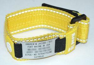Velcro Id Bracelet Road Custom Engrave