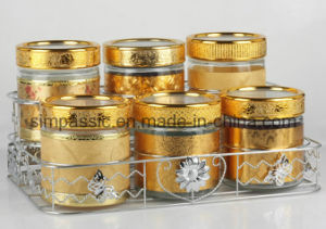 6PCS Storage Jar Sets (decal and gold coated lid&bracket) (SG1545SJ) pictures & photos