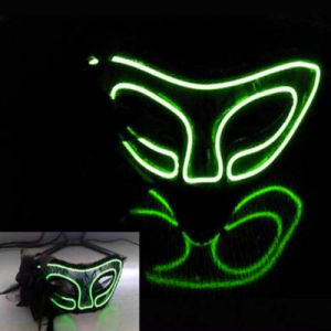China Electroluminescent EL Lighted Mask for Lightshows - China EL ...