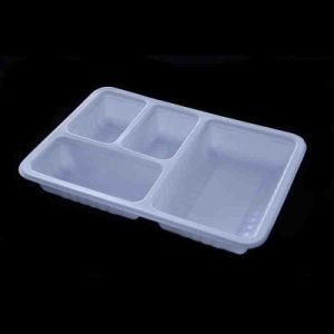 China Disposable Plastic Divided Food Tray China Food Containers