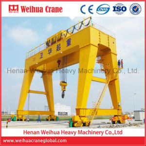 New Rail Mounted Double Girder Gantry Crane Price 10 Ton