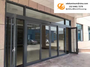 1 8mm Thickness Aluminum Alloy Folding Door Large Indoor And Outdoor Push