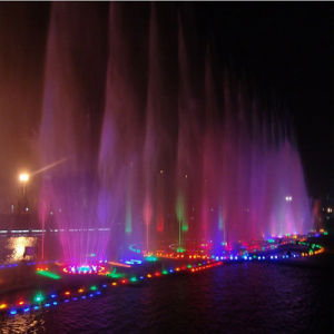 Music Dancing Fountain/ Colorful Lighting Flower Shape Indoor Fountain