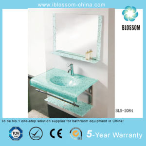 Water Transfer Printing Process Wall-Hung Glass Wash Basin (BLS-2084) pictures & photos