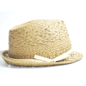 Paper Straw Hat with Polyester Ribbon Band