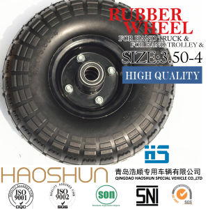Tyre Trolley Tyre Pneumatic Barrow Rubber Wheel Tire 3.50-4 pictures & photos