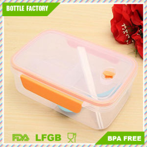 Smart Plastic Microwave Food Storage Box Refridgerator Organizer Container Bento Lunch Box Chopsticks Spoon Sets Divider Boxes pictures & photos