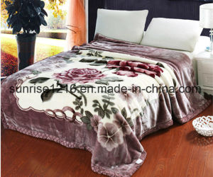 High Quality Mink Blanket Sr-B170214-3 Printed Mink Blanket Solid Mink Blanket