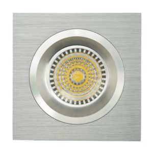 Lathe Aluminum GU10 MR16 Square Fixed Recessed LED Spotlight (LT2109) pictures & photos