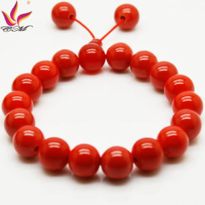 Tmb-018 Hot Red Buddha′s Head Bracelet Germanium Healthy Care Jewelry