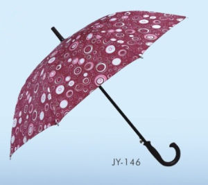 Auto Open Pongee Material Colorful Straight Umbrella (JY-134) pictures & photos