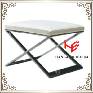 Shop Stool (RS161802) Hotel Stool Living Room Stool Bar Stool Cushion Outdoor Furniture Store Stool Restaurant Furniture Stainless Steel Furniture