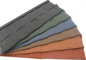 SONCAP Certificate Colorful stone coated metal roofing tile pictures & photos
