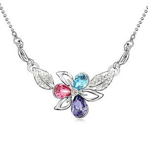 Glory Austrian Diamond Pendant Necklace (XJW12541)