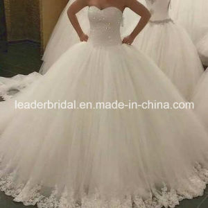 Luxury Wedding Ball Gown Lace Crystals Bridal Wedding Dress L1531212 pictures & photos
