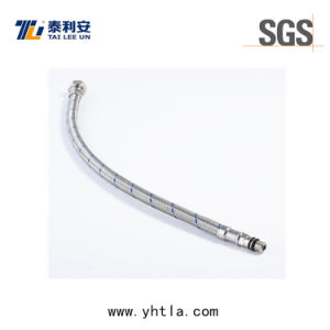 Stainless Steel Braided Flexible Tap Connector, F12′′15mm Compression Valve (L1007-B)