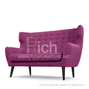 Wing Back Leisure Sofa in Fabric for Living Room (2Seater) pictures & photos