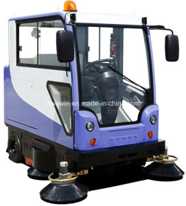 Electric Road Cleaning Sweeper Machine with Cabin pictures & photos