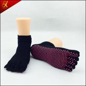 b5bb9b91273 [Hot Item] Man Cotton Rubber Toe Socks