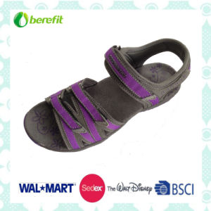TPR Sole, Webbing and PU Upper, Women′s Sandals pictures & photos