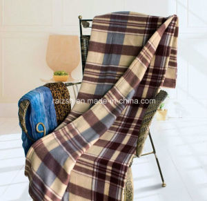 Nice Design Check Printing Polar Fleece Throw