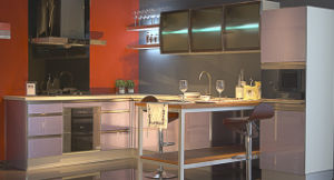 18mm UV Kitchen Cabinet (ZX-012) pictures & photos
