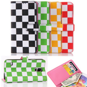 Colorful Lattice Leahter Cell Phone Case for iPhone 6 Plus