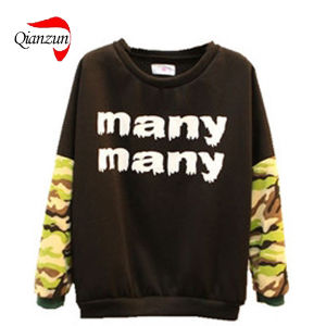 Customed Fashion Cotton Printing Camo Sweater Shirts (QZ-LW-086) pictures & photos