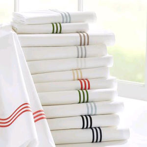 Quality Cotton Hotel Bedding Set White Embroidery Bed Sheets Set pictures & photos