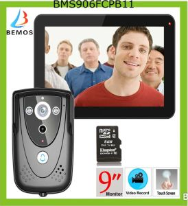 "9"" DVR Color Touch Screen Video Door Phone with Recording pictures & photos"