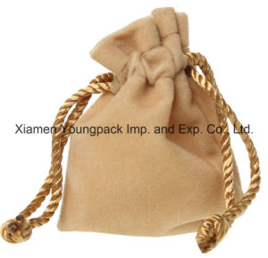 Fashion High Quality Custom Large Velvet Drawstring Pouch Gift Bag pictures & photos
