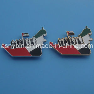 UAE National Day 45th Map with Flag Logo Metal Pin Badge pictures & photos
