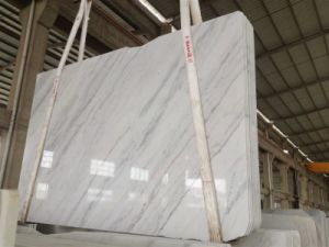 Hzx Honed or Polished Guangxi White Marble Slabs pictures & photos
