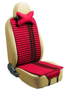 Car Seat Cushion Flat Shape Double Sides Use with Flax and Velvet-Red