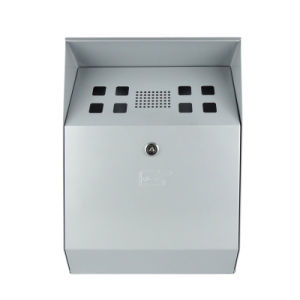 Innocurve-Silvery Self-Extinguishing Weather- & Theft-Proof Wall-Mounted Cigarette Bin