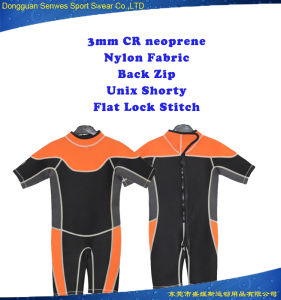 Customized Color 3mm Neoprene Shorty Waterproof Surfing Suit