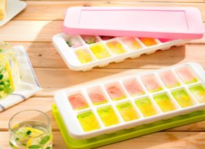 Custom Food Grade Plastic Silicone Ice Cube Tray pictures & photos