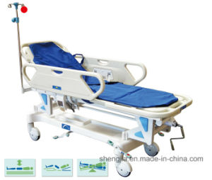 Sjm002-a New Style Luxurious Electric Rise-and-Fall Stretcher Cart