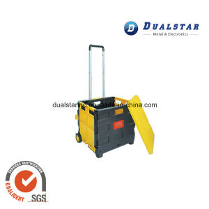 Folded Rolling Basket with Wheels