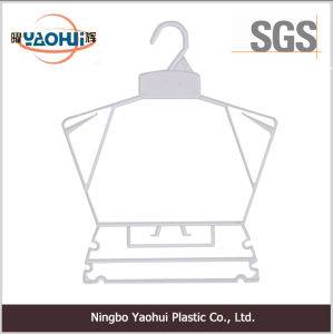 Plastic Frame Hanger with Plastic Hook for Cloth pictures & photos