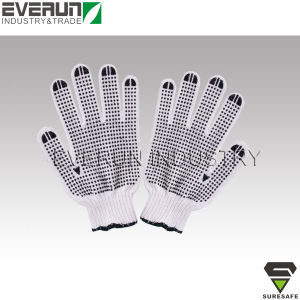 PVC Dotted Gloves Disposable Cotton Gloves pictures & photos