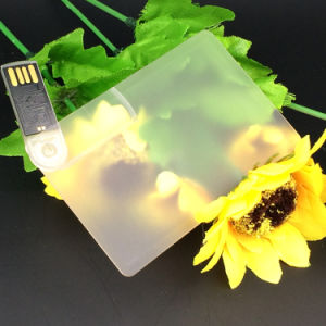 Transparent Swivel Card USB Flash Drive Card Pendrive pictures & photos