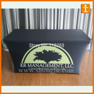 OEM Advertising Polyester Table Cover (TJ-17) pictures & photos