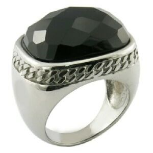 Accept Custom Stainless Steel Gemstone Rings pictures & photos